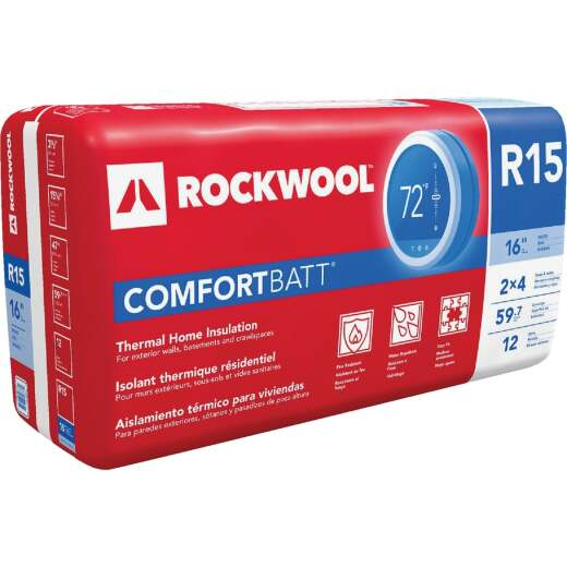 Rockwool Comfortbatt R-15 16 In. x 47 In. Stone Wool Insulation (12-Pack)