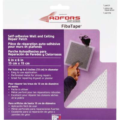 FibaTape 6 In. x 6 In. Wall & Ceiling Self-Adhesive Drywall Patch