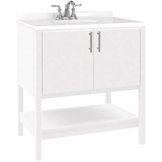 Bertch Essence 30 In. W x 34-1/2 In. H x 21 In. D White Furniture Style Vanity Base, 2 Door