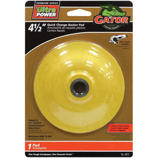 Gator Quick Change 4-1/2 In. Angle Grinder Backing Pad