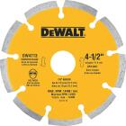 DeWalt Extended Performance 4-1/2 In. Segmented Rim Dry/Wet Cut Diamond Blade (Bulk) Image 1