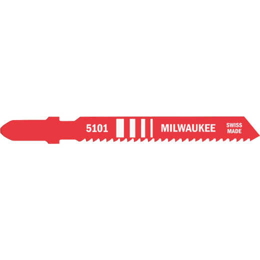 Milwaukee T-Shank 3 In. x 14 TPI High Speed Steel Jig Saw Blade, Metal Cutting (5-Pack)