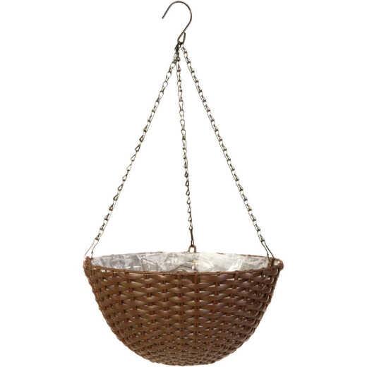 Panacea 14 In. Resin Espresso Brown Hanging Plant Basket
