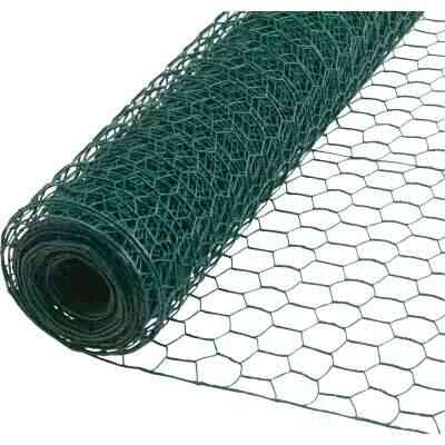 1 In. x 24 In. H. x 25 Ft. L. Green Vinyl-Coated Poultry Netting