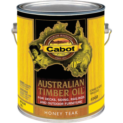 Cabot Australian Timber Oil Translucent Exterior Oil Finish, Honey Teak, 1 Gal.