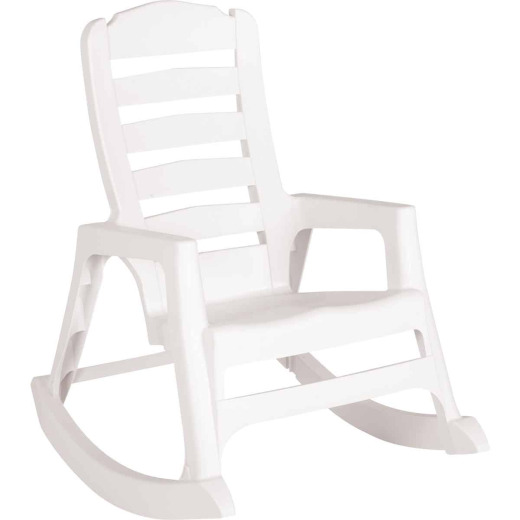 Big Easy White Resin Stackable Rocking Chair