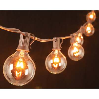 Gerson 10 Ft. 10-Light Clear Globe String Lights