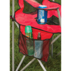 Outdoor Expressions Red Polyester Mesh Folding Chair Image 2