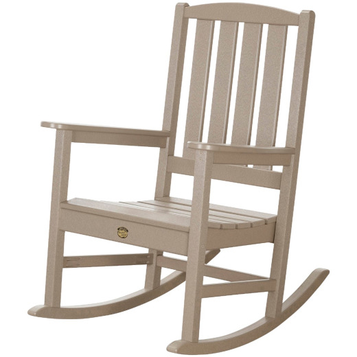 Pawley's Island Silver Line Tan Poly Porch Rocking Chair